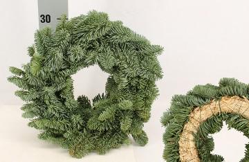 Planta De Interior - Plantas De Navidad - CORONA NATURAL RAMAS 30 CM