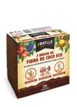 Tierras Y Sustratos - Sustratos Vegetales - Fibra De Coco Eco 3 Bricks De 650gr.