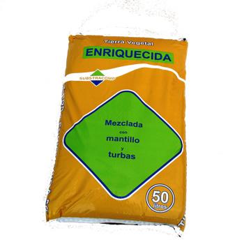 Tierras Y Sustratos - Tierra Vegetal - Tierra Enriquecida 50 Lt