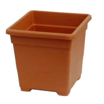 Macetas Y Jardineras - Macetas Plastico - Maceta Plastico Cuadrada 27cm Terracota