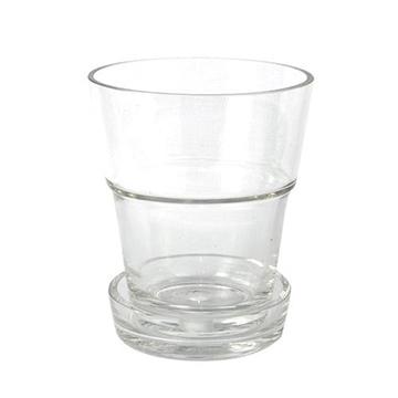 Macetas Y Jardineras - Macetas Decoracion - Macetero Con Plato Transparente Cristal 14,5x16cm