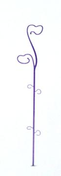 Macetas Y Jardineras - Macetas Decoracion - Soporte De Vara De Orquidea 10x59cm Violeta
