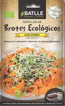 Semillas Ecologicas - Semillas Brotes Ecologicos - Semillas Ecologicas Brotes Ajo Chino 6gr