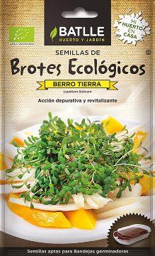Semillas Ecologicas - Semillas Brotes Ecologicos - Semillas Ecologicas Brotes Berro Tierra 14gr