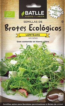 Semillas Ecologicas - Semillas Brotes Ecologicos - Semillas Ecologicas Brotes Lentejas 33gr