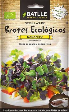 Semillas Ecologicas - Semillas Brotes Ecologicos - Semillas Ecologicas Brotes Rabanito 18gr