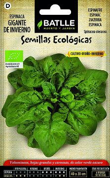 Semillas Ecologicas - Semillas Ecologicas - Semillas Ecologicas Espinaca Gig.invierno 4gr