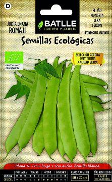 Semillas Ecologicas - Semillas Ecologicas - Semillas Ecologicas Judia Enana Roma Ii 15gr