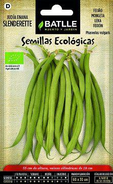 Semillas Ecologicas - Semillas Ecologicas - Semillas Ecologicas Judia Enana Slenderette 15gr