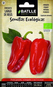 Semillas Ecologicas - Semillas Ecologicas - Semillas Ecologicas Pimiento Largo De Reus 1gr