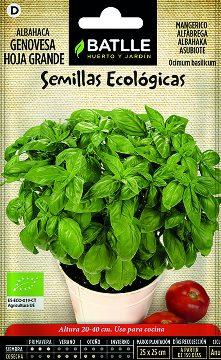 Semillas Ecologicas - Semillas Aromaticas Ecologicas - Semillas Ecologicas Albahaca Genovesa 1,5gr